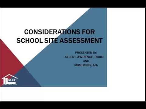 ACEF Webinar - School Site Assessment