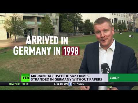 Migrant accused of 542 crimes remains in Germany because authorities don't know where to deport him