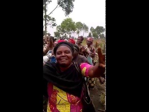 Rape survivors singing and praising God in DR. Congo
