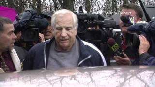 Jerry Sandusky Leaves District Court Office