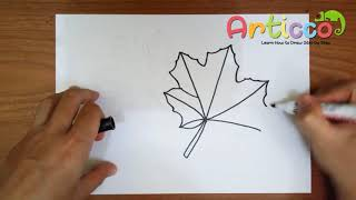 How to Draw a Pot Leaf Step by Step