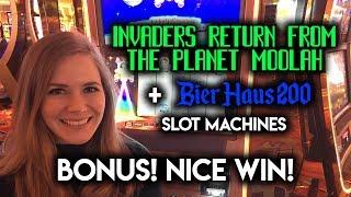 Return From Planet Moolah Bonus + Bier Haus 200 BIG Bet Great WIN!!