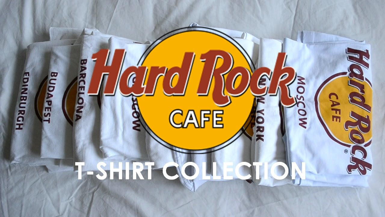 hard rock cafe t shirt collection youtube. Black Bedroom Furniture Sets. Home Design Ideas