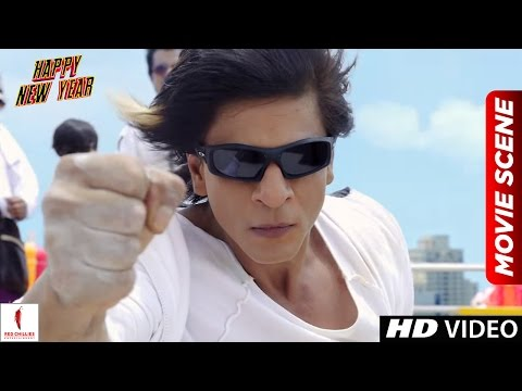 Charlie's Kung Fu Power | Happy New Year Scenes | Shah Rukh Khan, Deepika Padukone