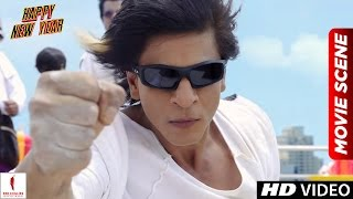 Charlie's Kung Fu Power Happy New Year Scenes Shah Rukh Khan, Deepika Padukone