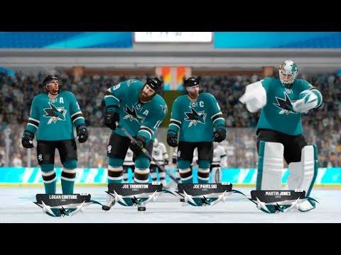 NHL 18 Beta: Sharks VS Kings Threes Gameplay