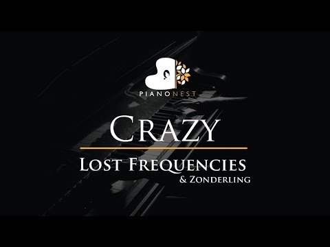 Lost Frequencies & Zonderling - Crazy - Piano Karaoke / Sing Along / Cover with Lyrics
