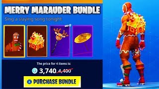 CHRISTMAS SKIN *BUNDLES* COMING TO FORTNITE?! MERRY MARAUDER SKIN *BUNDLE* Fortnite!