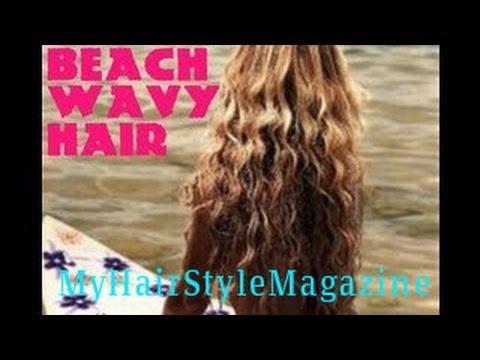 DIY How to: get No Heat Beach Waves Curls Shiny Hair ...