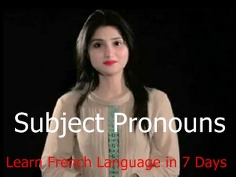 Subject Pronouns , french language learning online , Learn in 5 Days