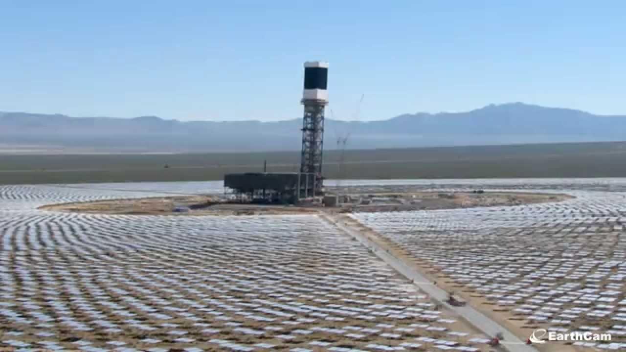Ivanpah Solar Electric Generating System Time-lapse