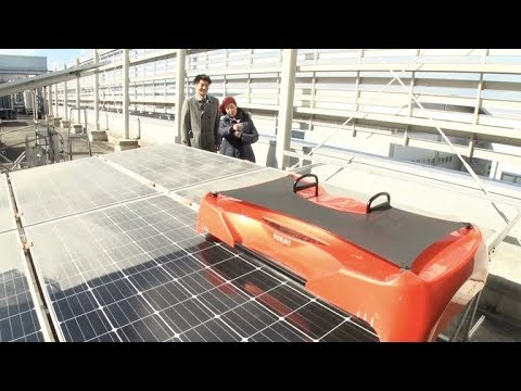 Solar Panel Cleaner Sweeping the Middle East