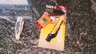 Klein Tools NCVT-5A Non-Contact Voltage Tester w/Laser + RT210 GFCI Outlet Tester Tool Kit Review