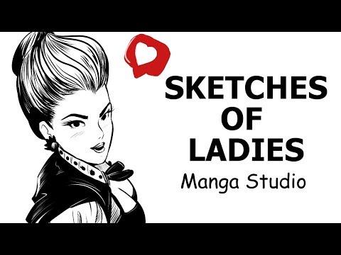 Sketches of Ladies  by Blas Roa  in Manga Studio