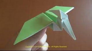 origami dinosaur how to make a paper dinosaur origami pterodactyl
