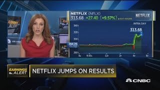 Netflix jumps on earnings. What that means for the streaming space