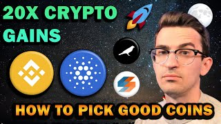 MY TOP 3: 20X CRYPTO GAINS | How I Find Good Coins