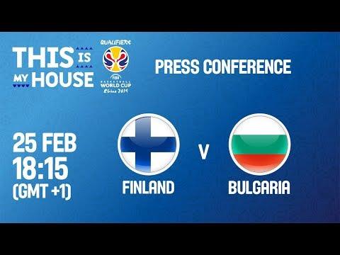 Finland v Bulgaria - Press Conference - FIBA Basketball World Cup 2019 - European Qualifiers