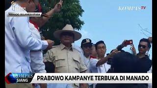Prabowo Kampanye Terbuka di Manado
