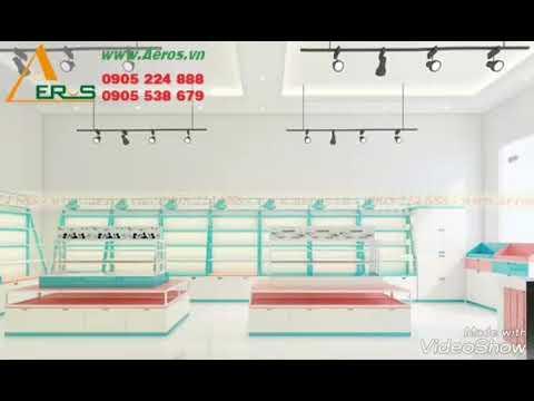 Thiết kế thi công shop mỹ phẩm son phấn tại Tphcm - YouTube