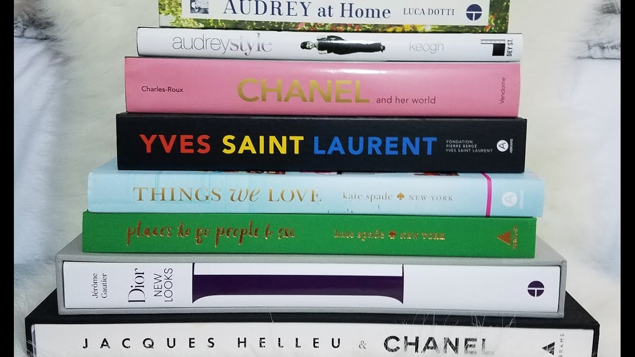 Coffee Table Books Chanel Ysl Dior Kate Spade More