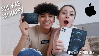 SURPRISING MY GIRLFRIEND WITH AN IPHONE 12 PRO
