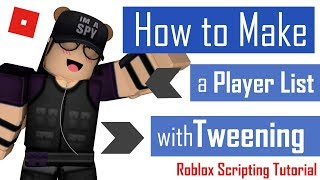 How to Make a Player List with Tweening | Roblox Scripting Tutorial