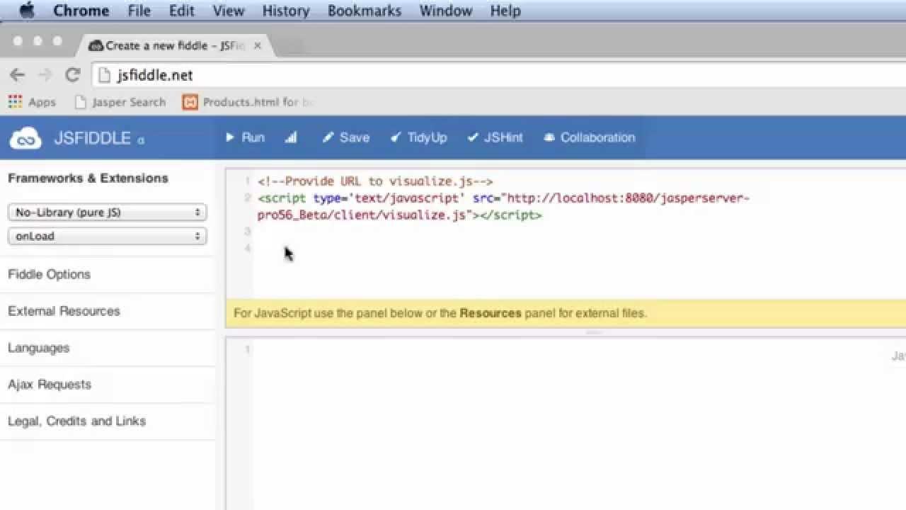 Visualize js - Getting Started | Jaspersoft Community