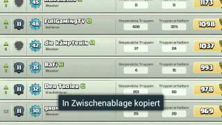 Der Clan tester deutsch german Clash of Clans