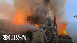 Notre Dame Cathedral in Paris on fire, live stream