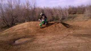 Honda 50 Dirt Bike Jumping