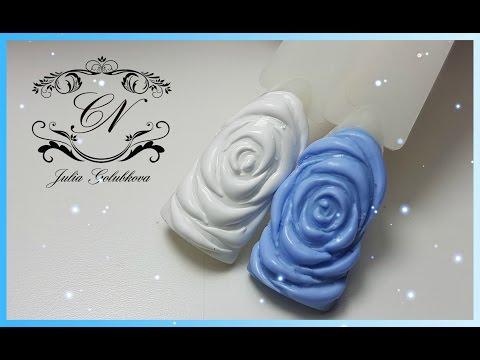 Розы объемные на ногтях