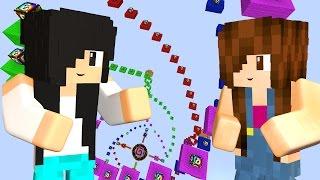 Minecraft - CORRIDA DE LUCKY BLOCK ESPIRAL
