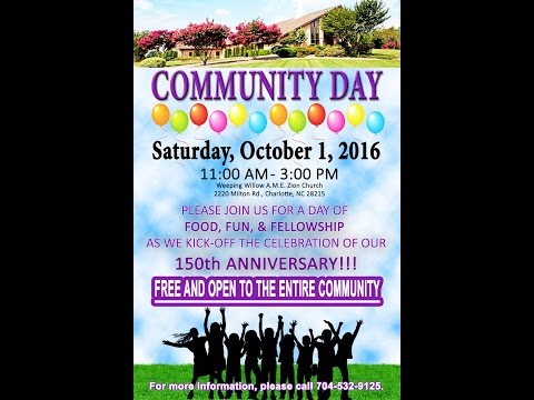 WEEPING WILLOW COMMUNITY DAY 2016