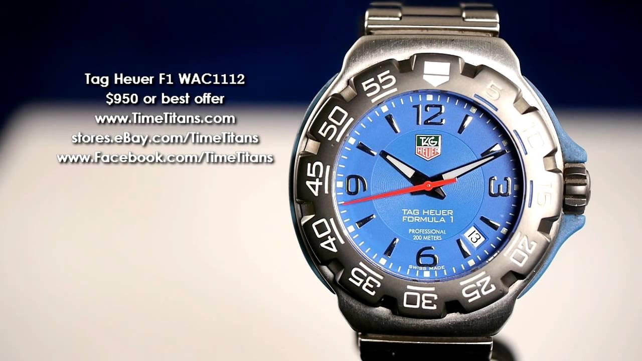 Tag Heuer Formula 1 Professional Wac1112 Blue 200m