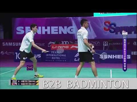 Badminton 2017 Purple League   Lee Yong Dae Tan Wee Gieen vs Mak Hee Chun Ou Xuanyi