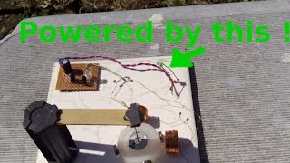 Motor powered by a 3mm LED