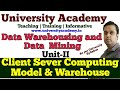 L10: Client Server Computing Model & Data Warehousing | client server architecture of warehouse