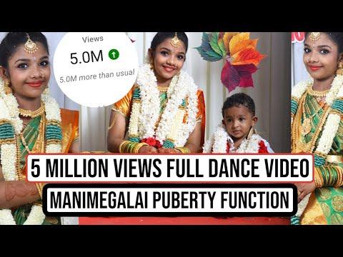 MANIMEGALAI PUBERTY FUNCTION DANCE  FULL VIDEO-🤩அடேங்கபா செம ஆட்டம் 🤩