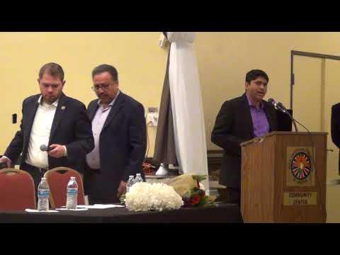 Peeyush's address to Indian community and congressman Ruben Part 1