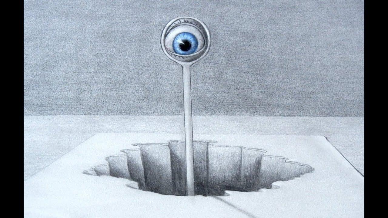 Sorprendente Dibujo De Ilusión óptica Ojo En 3d Arte Divierte
