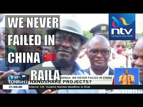 Raila Odinga finally speaks about what happened in China, SGR loan