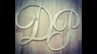 Как сделать буквы из фанеры Wooden letters