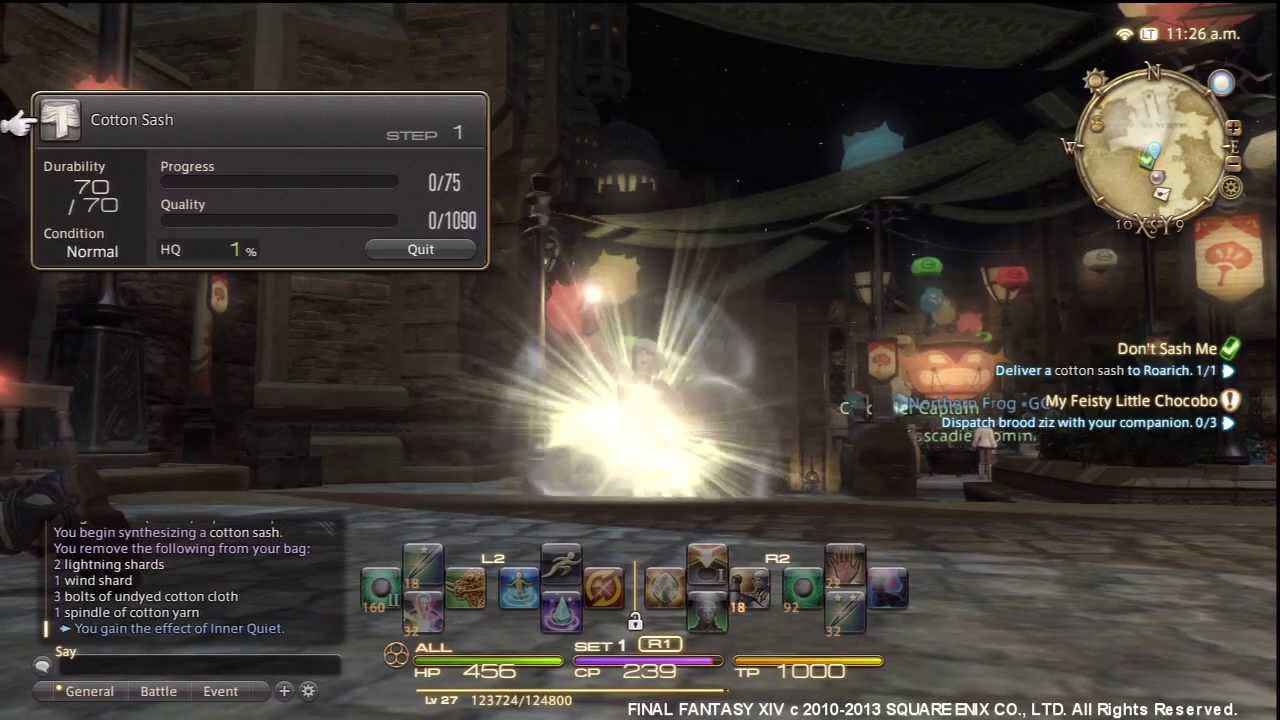 Final Fantasy  Time To Max Crafting