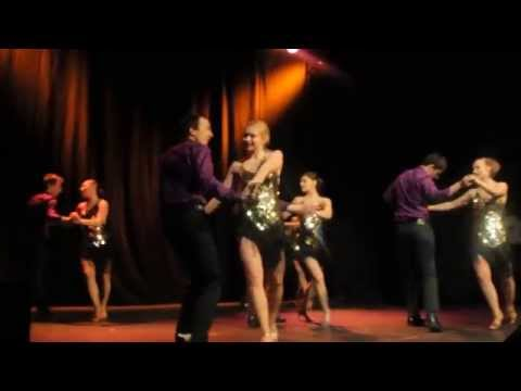 Edinburgh University Salsa Society at Edinburgh AIESEC Talent Show performing bachat