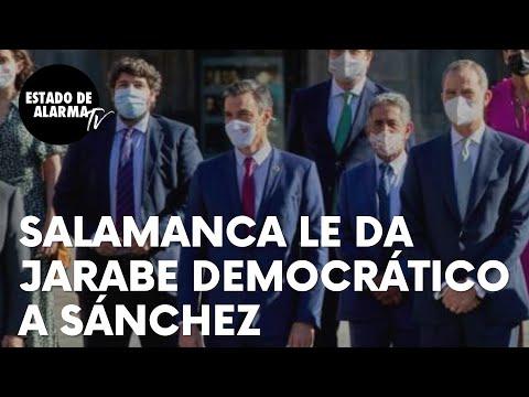 """Pedro Sánchez recibe 'jarabe democrático' en Salamanca: """"¡Fuera! ¡No te queremos aquí!"""""""