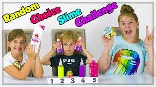RANDOM CHOICE SLIME CHALLENGE ! Satisfying Slime