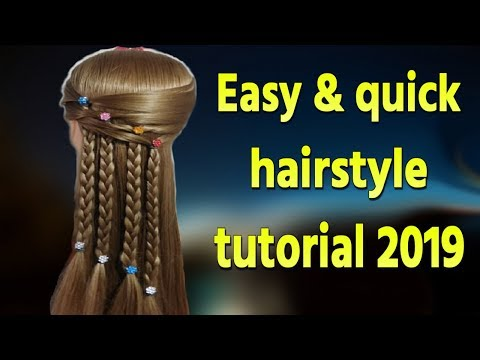 Easy & quick hairstyle tutorial 2019 Different French Braid Hairstyle for Wedding| Hairstyle girl | thumbnail