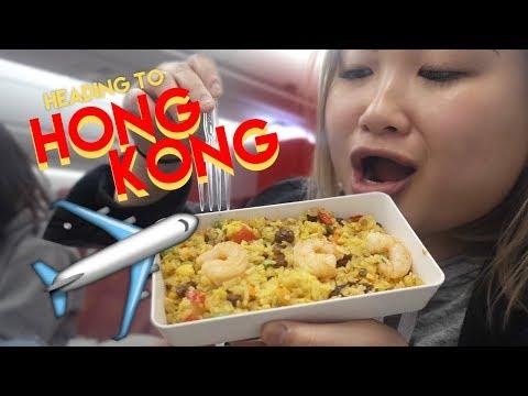 MUKBANG ON PLANE TO HONG KONG - HK VLOG 1