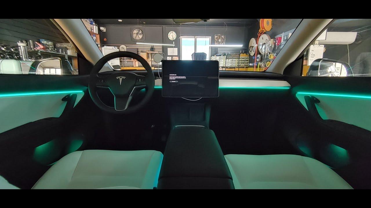 2021  tesla 테슬라 모델Y 간접 아크릴 엠비언트 무드등 라이트(야무진튜닝)